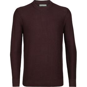 Icebreaker Waypoint Crew sweater Herrer, rød